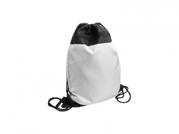 Drawstring Backpack(Black Polyester)