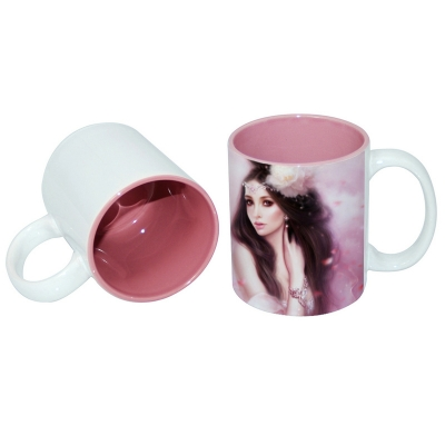 11oz Two-Tone Color Mug-Pink