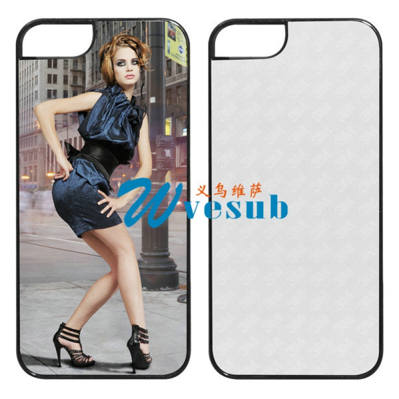 Black Plastic Sublimation iPhone5s Cover
