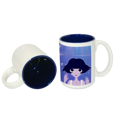 15oz Two-Tone Mug-Dark Blue