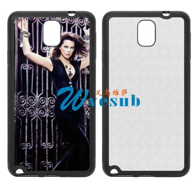 Black Rubber Sublimation Samsung Galaxy Note3  Cover