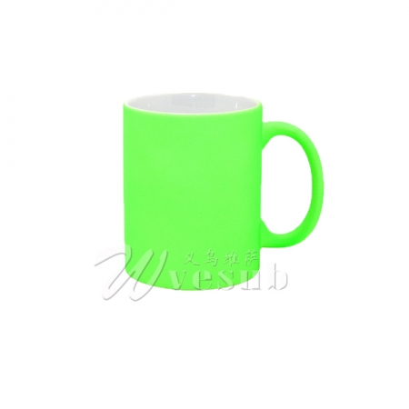 11oz Sublimation Frosted Full Color Mug- Bright Green