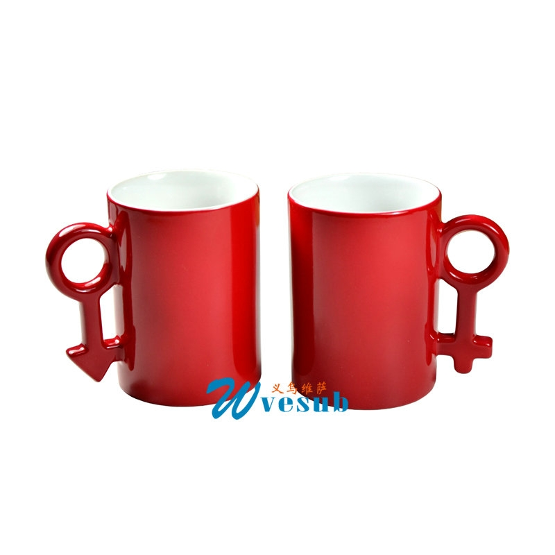 Lovers couple sublimation color changing mugs with coating for sublimation printing