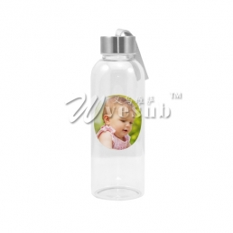 420ml Glass Bottle with Round White Patch