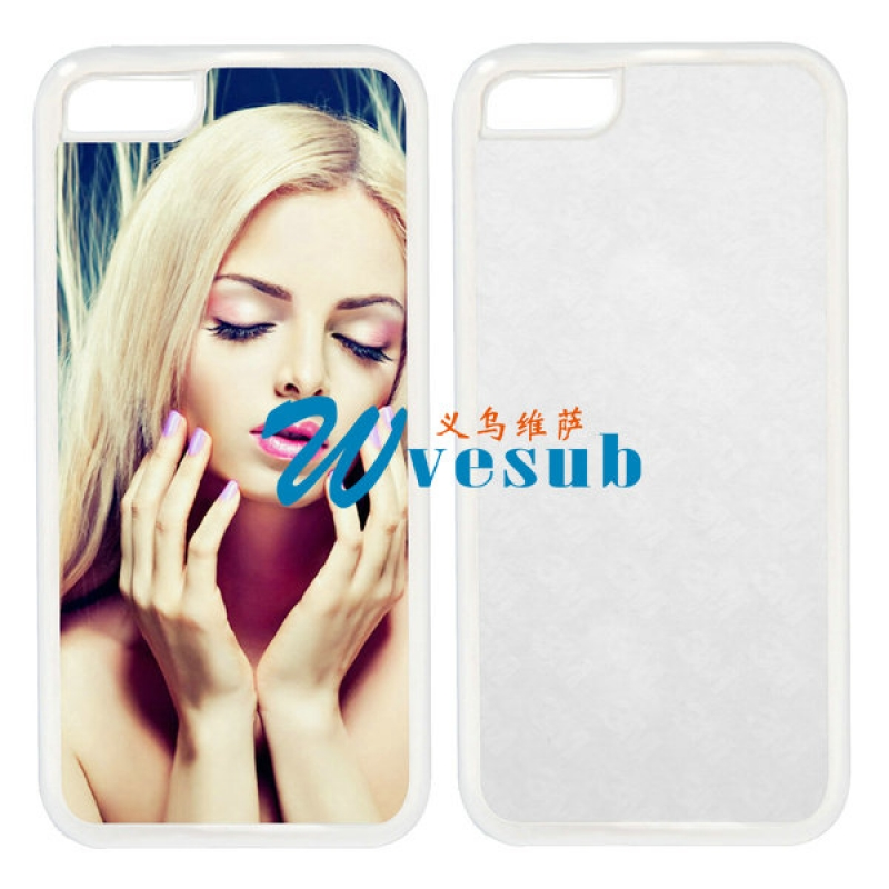 White Rubber Sublimation iPhone5s Case