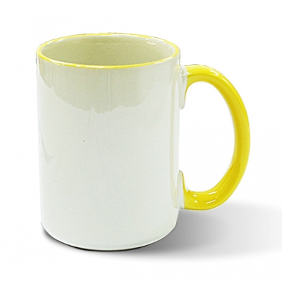 15oz Rim Handle Mug-Yellow