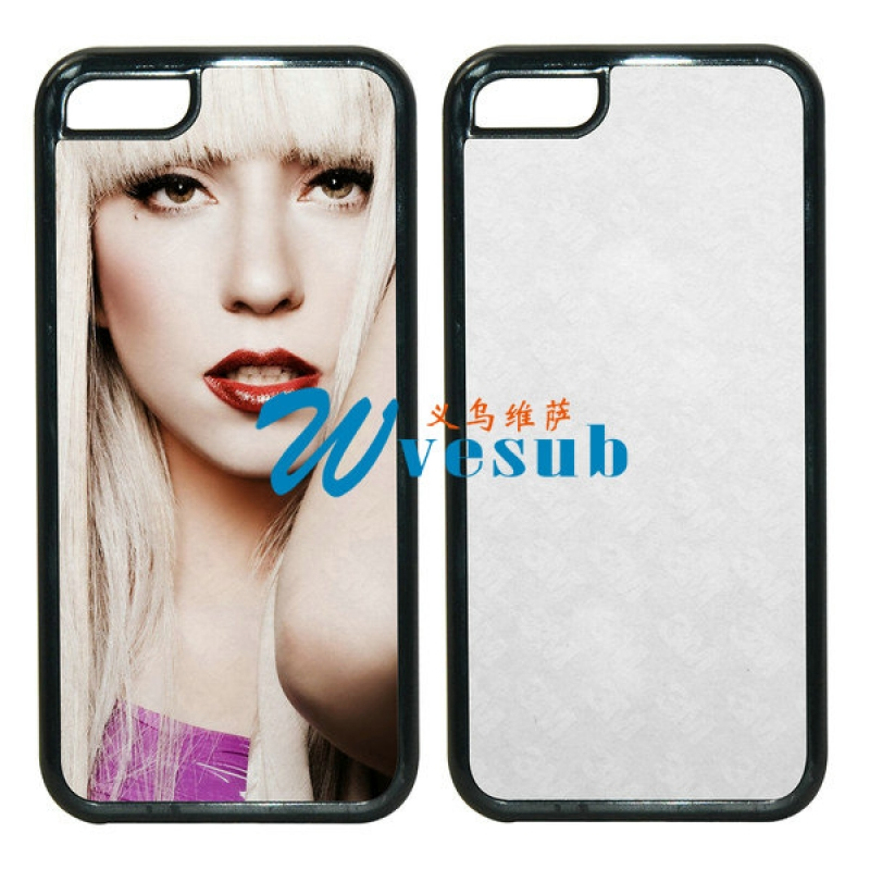 Black Rubber Sublimation iPhone 5C Case