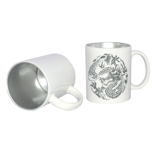 12oz Two-Tone Color Sublimation Mug-Silver