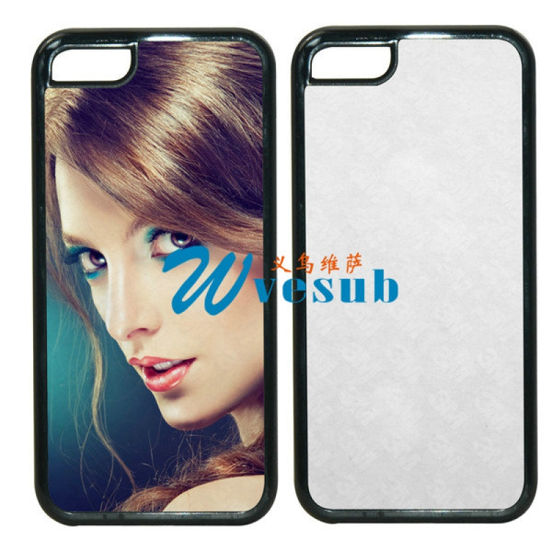 Black Rubber Sublimation iPhone5s Case
