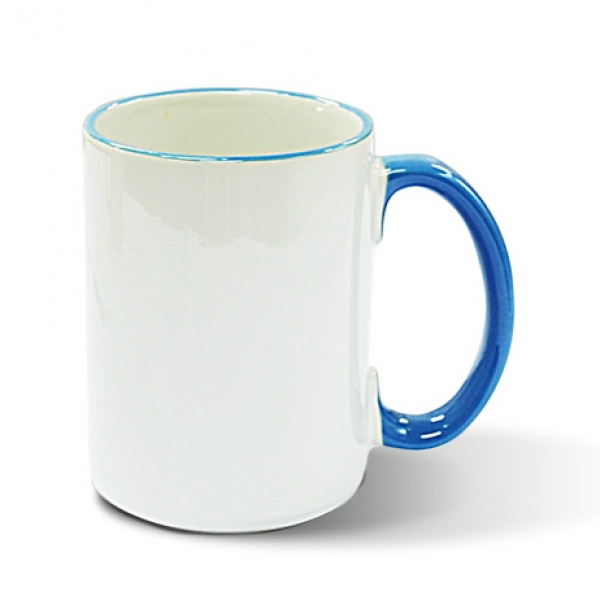 15oz Rim Handle Mug-Light Blue