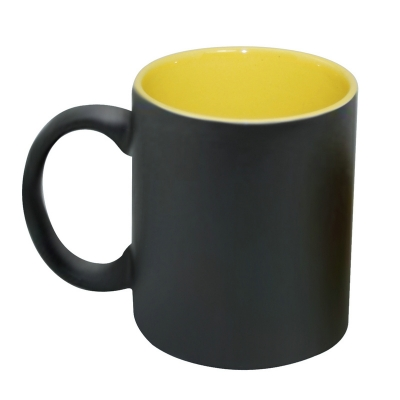 11oz Inner Color Change Mug-Yellow