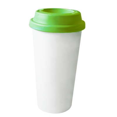 450ml Double Wall Sublimation Tumble(Flat Cover)-Green