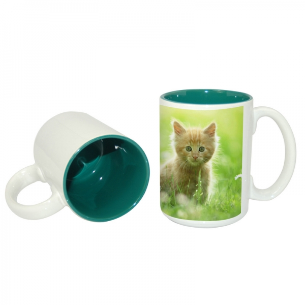 15oz Two-Tone Mug-Dark Green