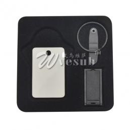 8G USB Stick Keyring (Rectangular)