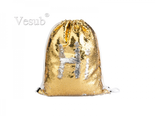 Sequin Drawstring Backpack( Gold/Silver)