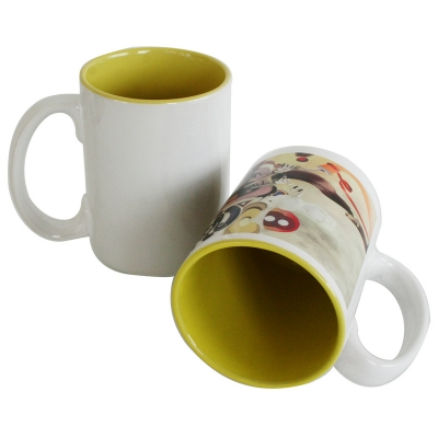 15oz Two-Tone Mug -Yellow