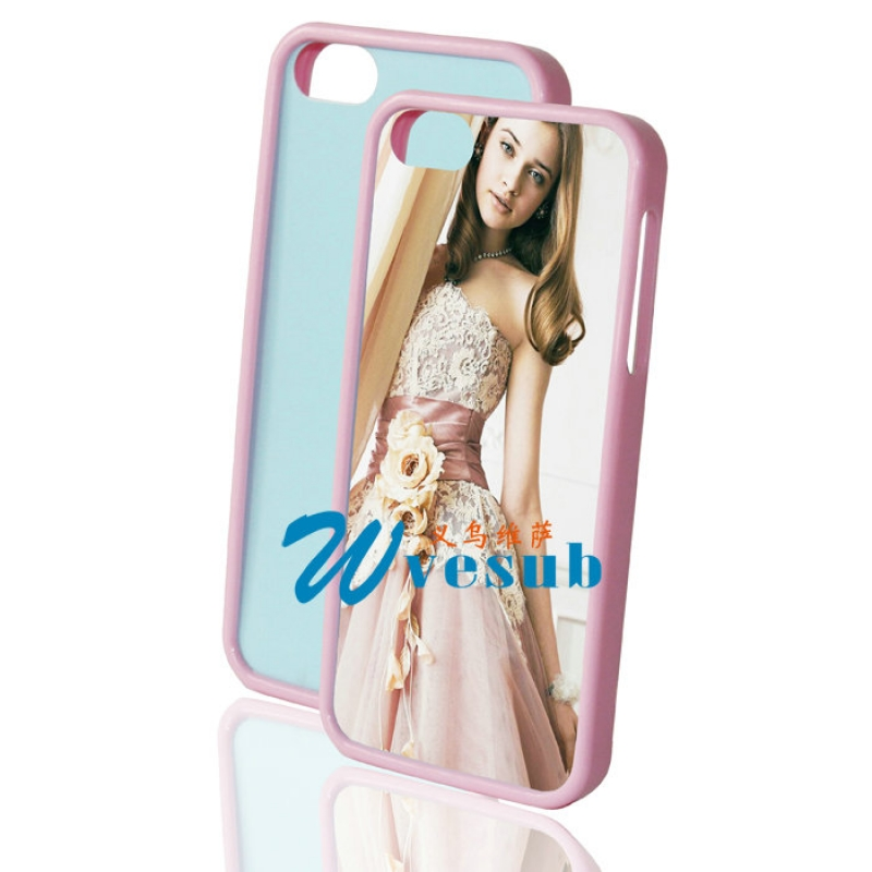 Rubber Sublimation iPhone5 5s Frame-Pink