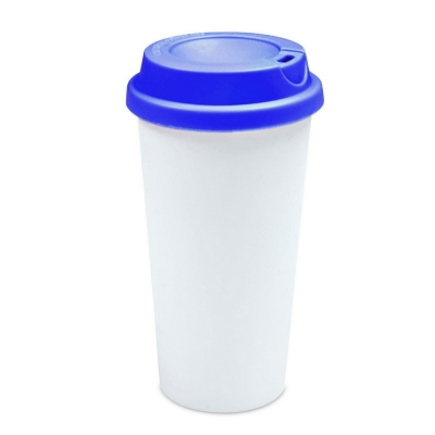450ml Double Wall Sublimation Tumble(Flat Cover)-Dark Blue