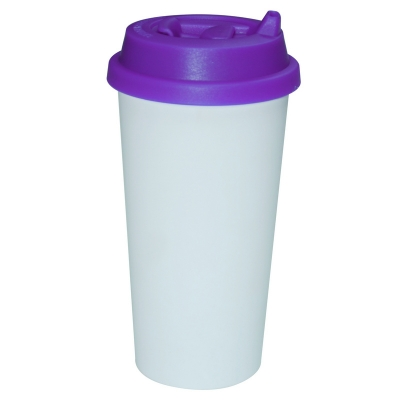 450ml Double Wall Sublimation Tumble(Revsible Cover)-Purple