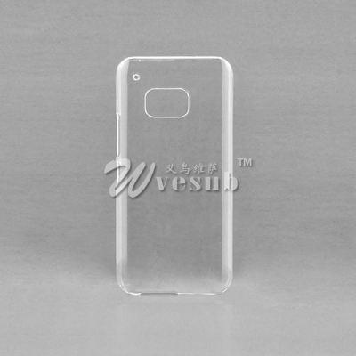 Customized logo 3D Sublimation Clear Glossy Phone Case for HTC M9