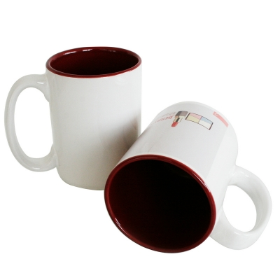 15oz Two-Tone Mug-Maroon
