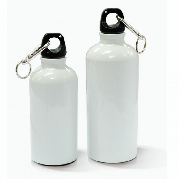 600ml Aluminium Water Bottle-White