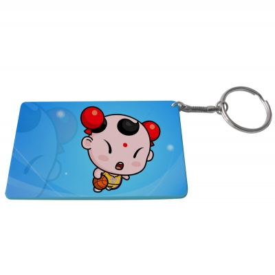 Credit Card Plastic Keychain 53*85mm(Color Edge)-Light Blue