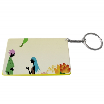 Credit Card Plastic Keychain 53*85mm(Color Edge)-Yellow