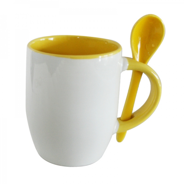 11oz Spoon Mug-Yellow
