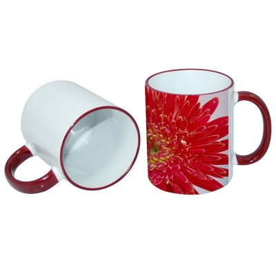 11oz Rim Handle Mug-Maroon