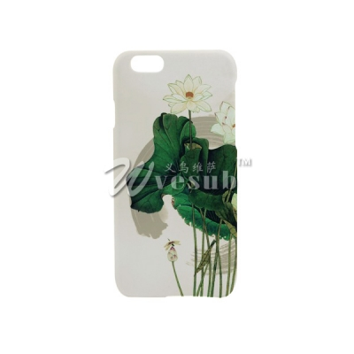 Custom Design Cellphone Cases for 3D iPhone 6 Sublimation Case Printing(Coated, White Frosted)