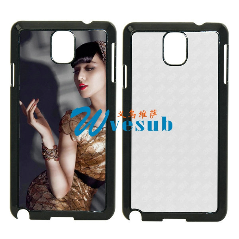 Black Plastic Sublimation Samsung Galaxy Note3  Case