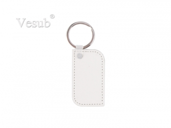 PU Leather Key Chain (Round Corner Rec)