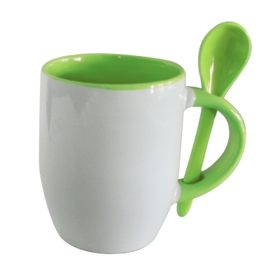 11oz Spoon Mug-Green
