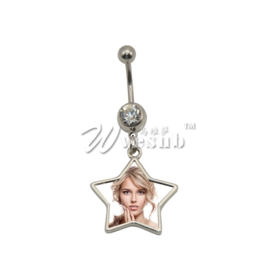 Sublimation Jewelry for Star Belly Button Ring