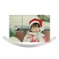 Glass Photo Frame with White Acrylic Swing Photo Stand