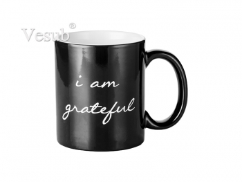 11oz Engraving Color Changing Mug (Grateful Motto) F