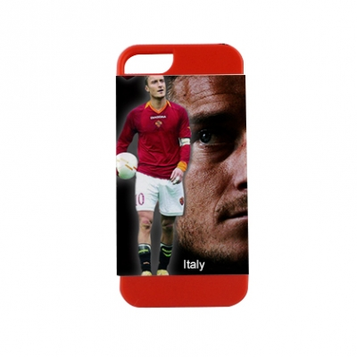 2 in 1 3D Sublimation iPhone 5 Frosted Card Insert Red Cover