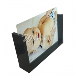 Sublimation Glass Photo Frame with Black Acrylic Slide Photo Stand