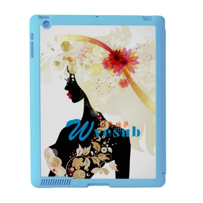 Sublimation Sub Magnetic Flip iPad Case-Blue