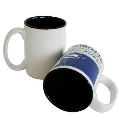 15oz Two-Tone Mug-Black