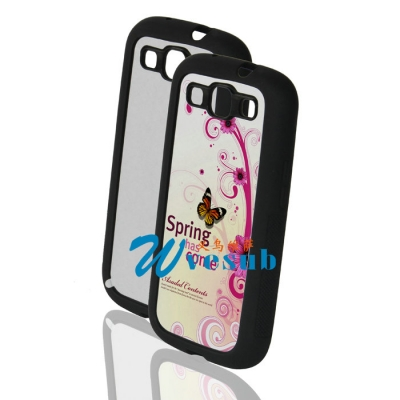 Sublimation Samsung Galaxy S3 i9300 Black Cover