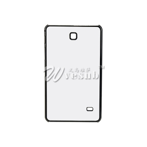 "Plastic DIY Sublimation Black Blank Case with Aluminum Sheet Glue for Samsung Galaxy TAB4 7"" Cover"