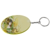 Oval Plastic Keychain 57*82mm(Color Edge)-Yellow