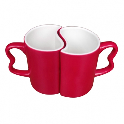 Color Changing Couple Mugs-Red