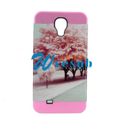 2 in 1 3D Samsung S4 Frosted Card Insert Cover-Pink