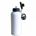 500ml Aluminium Water Bottle With Two Tops-White