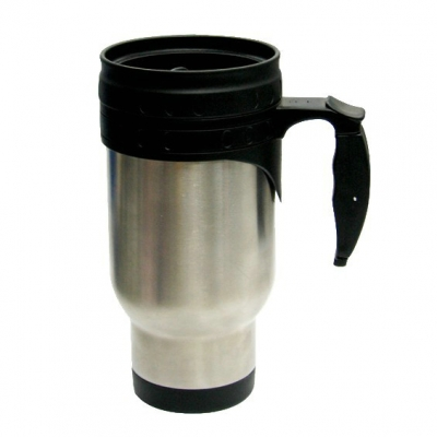 14oz Stainless Steel Mug - Black