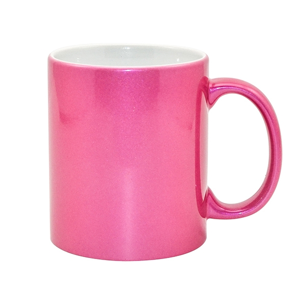 Hot Selling 11oz Sublimation Sparking Coffee Mug-Rose