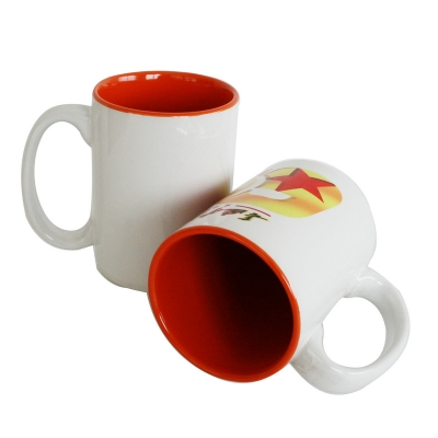 15oz Two-Tone Mug-Dark Red